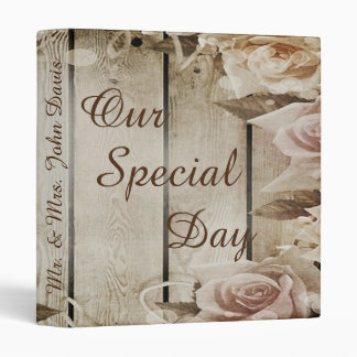 """""""Our Special Day"""" Wedding Photo 3 Ring Binders"""
