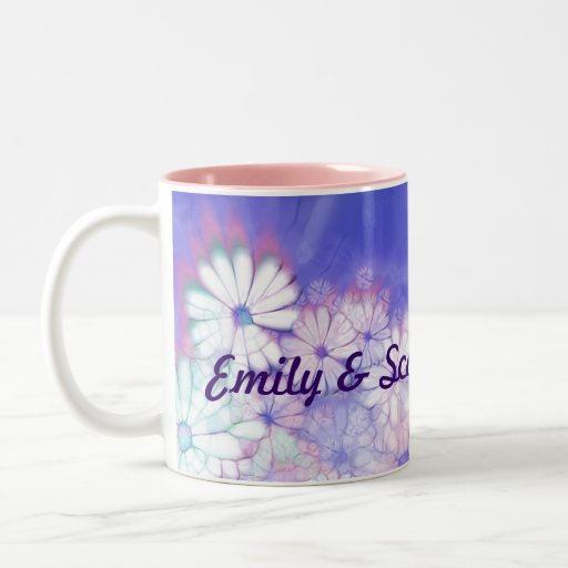 Our Spring Wedding Purple Floral Designs Coffee Mugs