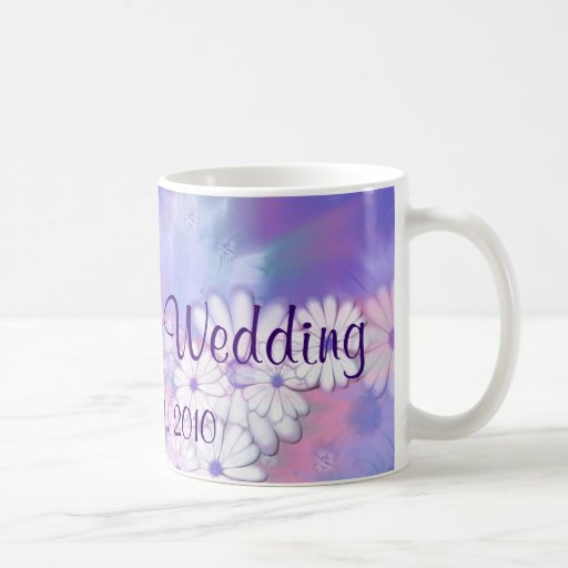 Our Spring Wedding Purple Floral Designs Coffee Mug