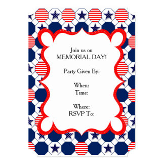 Our Stars Memorial Day Party Invitations