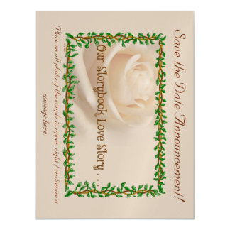 """""""Our Storybook Love Story"""" Save Date Magnet Magnetic Invitations"""