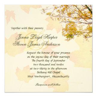 """Our Tree, Fall Wedding Square Invitation 5.25"""" Square Invitation Card"""