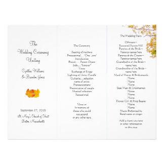Our Tree Tri-Fold Wedding Program Template