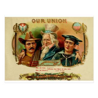 Our Union Cigar Box Label   (L1) Postcard