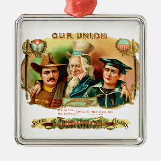 Our Union Vintage Cigar Box Label Metal Ornament
