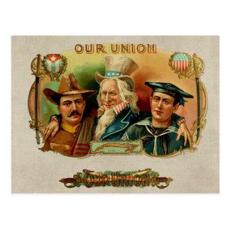 Our Union Vintage Cigar Box Label Postcard