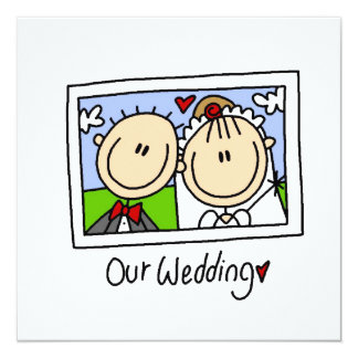 Our Wedding Bride and Groom T-shirts and Gifts Card