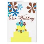 OUR WEDDING CAKE GREETING CARD