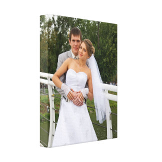 Our wedding day personalized wedding photo canvas print