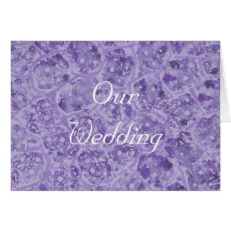 Our Wedding Invitations, shades of purple Card
