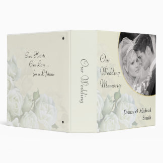 Our Wedding Memories Personalized Photo Album Vinyl Binders