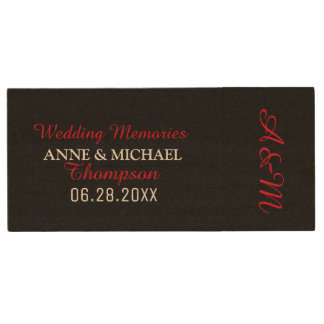 our wedding photography memories wood USB flash drive