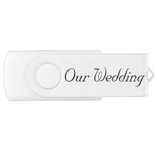 OUR WEDDING SWIVEL FLASH DRIVE