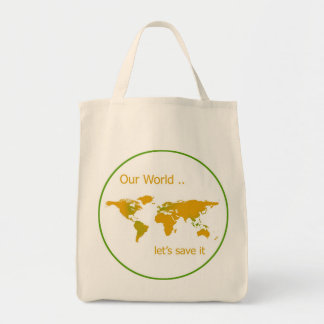 Our World Grocery Tote Bag