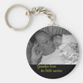 ourchild569-3, Grandpa loves , his little snooter Keychain