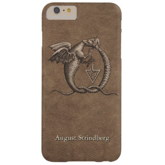 Ouroboros Dragons Leather Customized Barely There iPhone 6 Plus Case