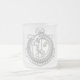 Ouroboros Frosted Glass Mug