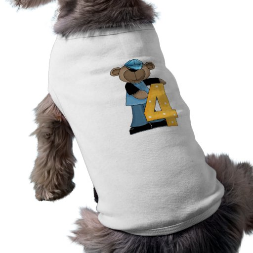 Ours 4 d'anniversaire manteau pour chien