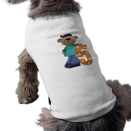 Ours 5 d'anniversaire vêtement pour animal domestique