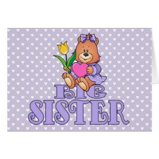 Ours avec la grande soeur de coeur carte de correspondance