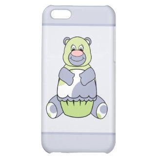 Ours bleu et vert de Polkadot Étui iPhone 5C