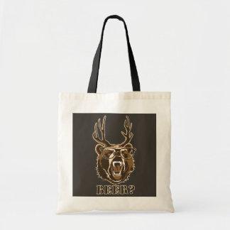 Ours, cerfs communs ou bière sac en toile budget