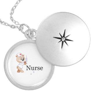 Ours d infirmière médaillon