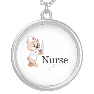 Ours d infirmière pendentif personnalisé