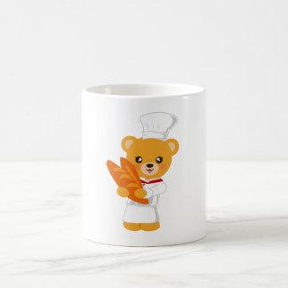 Ours de boulangerie mug blanc