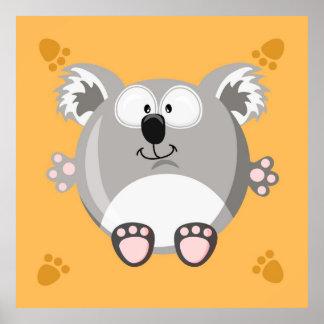 Ours de koala mignon affiches