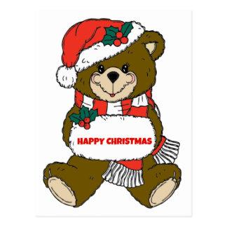 Ours de Noël heureux Carte Postale