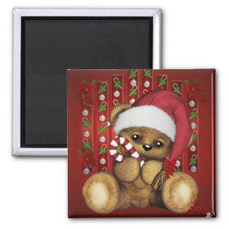 Ours de nounours de Père Noël avec du sucre de Magnets Pour Réfrigérateur