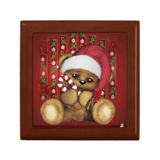 Ours de nounours de Père Noël avec du sucre de Boîte À Souvenirs