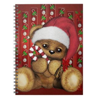 Ours de nounours de Père Noël avec du sucre de Carnets