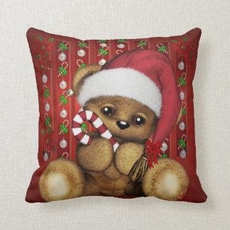 Ours de nounours de Père Noël avec du sucre de Coussin