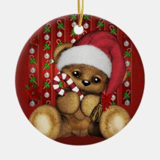 Ours de nounours de Père Noël avec du sucre de Ornements De Noël