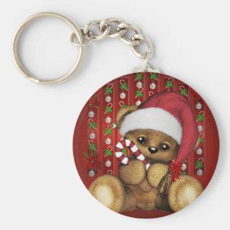 Ours de nounours de Père Noël avec du sucre de Porte-clé