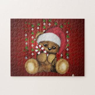 Ours de nounours de Père Noël avec du sucre de Puzzles Avec Photo