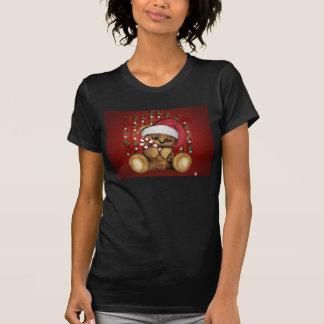 Ours de nounours de Père Noël avec du sucre de T-shirt
