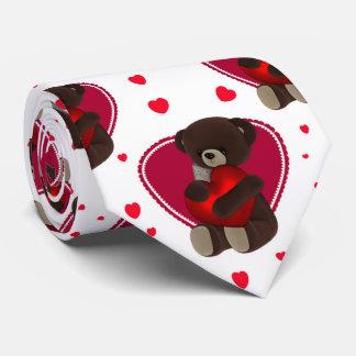 Ours de nounours de Valentine et coeurs, cravate