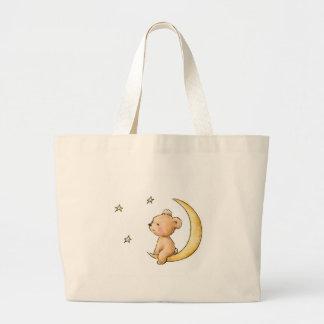 ours de nounours observant les étoiles sac en toile jumbo