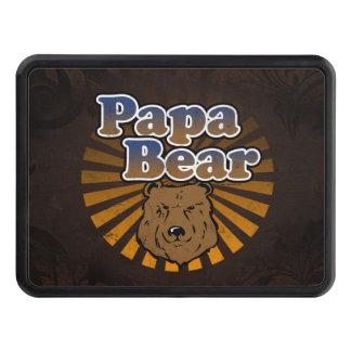 Ours de papa, regard vintage de fête des pères fra couverture d'attelage de remorque