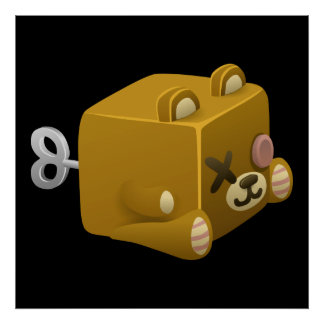 Ours d'emo de problème cubimal affiche