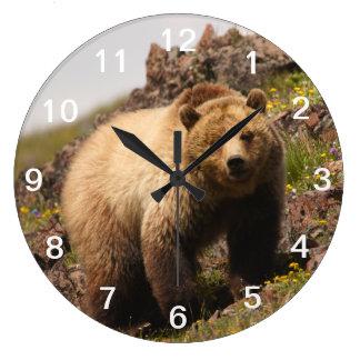 ours grande horloge ronde