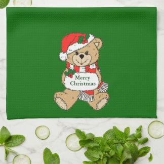 Ours mignon de Noël de Joyeux Noël Linges De Cuisine