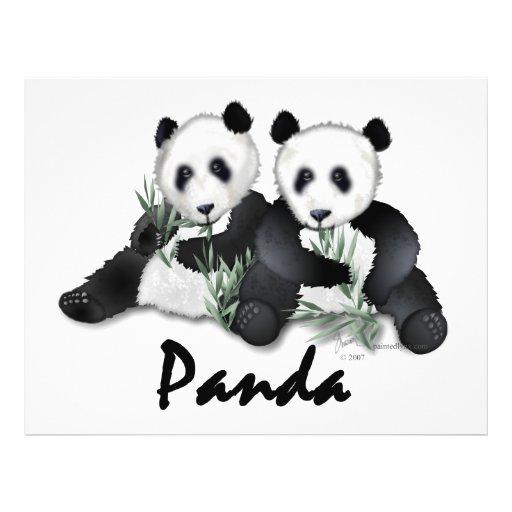 Ours panda géants prospectus personnalisés