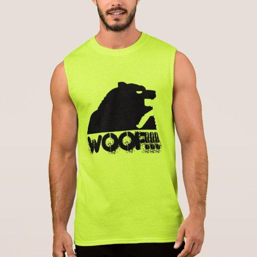"""Ours """"WOOF de S ! ! !"""" Mudshake (noir) T-shirts Sans Manches"""