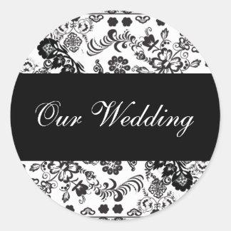ourwedding round sticker