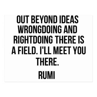 Out beyond ideas... Rumi Postcard