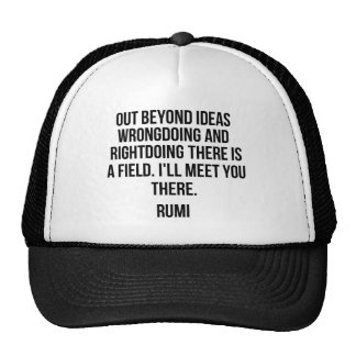 Out beyond ideas... Rumi Trucker Hat